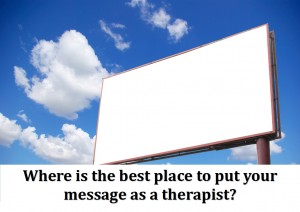Where is the best place to put your message